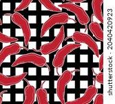 red pepper on geometry...   Shutterstock .eps vector #2040420923