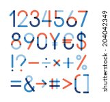 vector set   numbers and other... | Shutterstock .eps vector #204042349