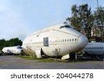 abandon airplane   Shutterstock . vector #204044278