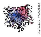 abstract heart vignette pattern.... | Shutterstock .eps vector #2040458186
