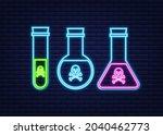 bottle of magic acid toxic...   Shutterstock .eps vector #2040462773