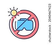 do not leave in sunlight rgb...   Shutterstock .eps vector #2040467423