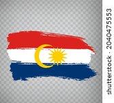flag labuan brush strokes. flag ...