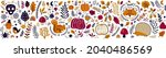 autumn decorative collection... | Shutterstock .eps vector #2040486569