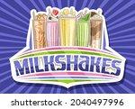 vector logo for milkshakes ...   Shutterstock .eps vector #2040497996