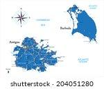 antigua and barbuda map | Shutterstock .eps vector #204051280