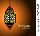 ramadan kareem  islamic style... | Shutterstock .eps vector #204052648