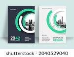 corporate book cover design... | Shutterstock .eps vector #2040529040