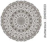 mandala. round ornament vector...   Shutterstock .eps vector #204053023