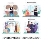sommelier concept set.... | Shutterstock .eps vector #2040552329