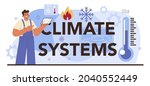 climate systems typographic... | Shutterstock .eps vector #2040552449