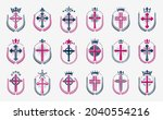 religion crosses logos big... | Shutterstock .eps vector #2040554216