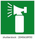 hand held emergency alarm...   Shutterstock .eps vector #2040618950