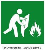 fire blanket symbol sign ...   Shutterstock .eps vector #2040618953