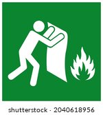 fire blanket symbol sign ...   Shutterstock .eps vector #2040618956
