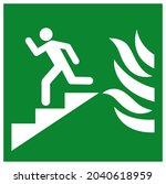 in event of fire use stair...   Shutterstock .eps vector #2040618959