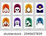 happy halloween design...   Shutterstock .eps vector #2040657839