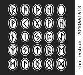 scandinavian magic runes....   Shutterstock .eps vector #2040661613