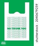 go green poster design template ... | Shutterstock .eps vector #2040679259