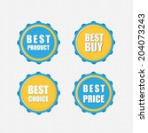 best buy  best product  best... | Shutterstock .eps vector #204073243