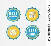 best buy  best product  best... | Shutterstock .eps vector #204073243