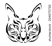 cat tattoo icon  | Shutterstock .eps vector #204075730