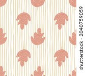doodle oak leaf seamless... | Shutterstock .eps vector #2040759059