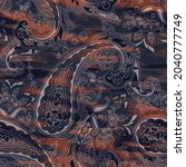 abstract paisley pattern on... | Shutterstock .eps vector #2040777749