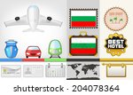 vector traveling and transport... | Shutterstock .eps vector #204078364