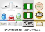 vector traveling and transport... | Shutterstock .eps vector #204079618