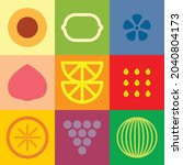 flat minimalist geometric fruit ...   Shutterstock .eps vector #2040804173