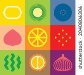 flat minimalist geometric fruit ...   Shutterstock .eps vector #2040806306
