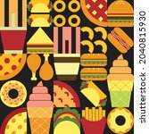 flat minimalist geometric fast...   Shutterstock .eps vector #2040815930