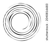 cyclical circle  helix  volute... | Shutterstock .eps vector #2040816683