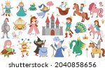 fairy tale characters and...   Shutterstock .eps vector #2040858656