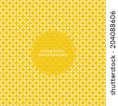 yellow geometric ornamental... | Shutterstock .eps vector #204088606
