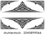 vector decorative frame with...   Shutterstock .eps vector #2040899066