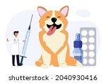 pet vet veterinary doctor... | Shutterstock .eps vector #2040930416