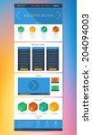 colorful flat website design