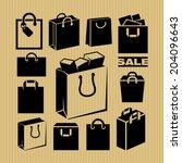 shopping bag  | Shutterstock .eps vector #204096643