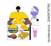 american cuisine abstract... | Shutterstock .eps vector #2040979790