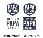 set of funny papa text quote... | Shutterstock .eps vector #2040984476