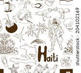 fun sketch haiti seamless... | Shutterstock .eps vector #204102169