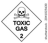 toxic gas label symbol sign ...   Shutterstock .eps vector #2041025630