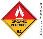 organic peroxide symbol sign ...   Shutterstock .eps vector #2041025633