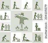 gardening | Shutterstock .eps vector #204105079