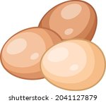 eggs chicken poultry food...   Shutterstock .eps vector #2041127879