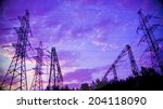 background with high voltage... | Shutterstock . vector #204118090