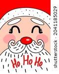 Cute New Year Card With Santa...