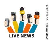 journalism concept vector   set ... | Shutterstock .eps vector #204118876